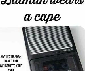 lol, tape, and hannah baker image