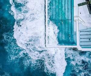 blue, sea, and ازرق image