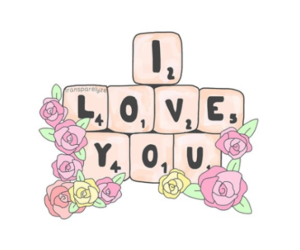 background, roses, and love image