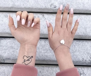 tattoo, nails, and heart image