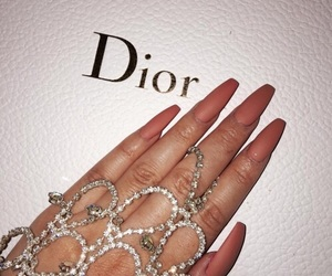 nails, dior, and luxury image