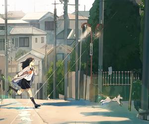 anime, anime girl, and wallpaper image