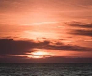 peach, skies, and sky image