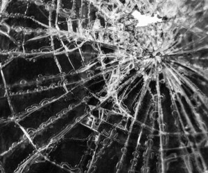 b&w, black & white, and cracked windsield image