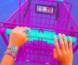 green, purple, and shopping image