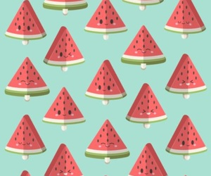 watermelon, cute, and wallpapers image