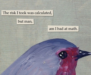 bird, math, and quote image