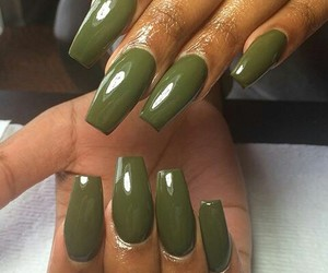 coffin, nails, and olive green image