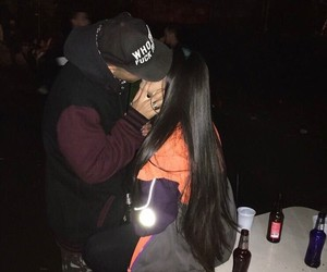 couple, kiss, and grunge image