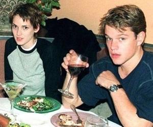 winona ryder, matt damon, and 90s image