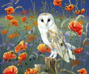 art, fantasy, and flowers image