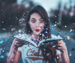 girl, book, and photography image