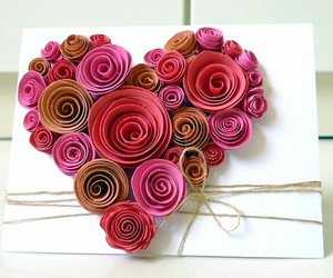 card, diy, and paper flower image