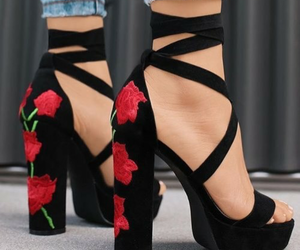 cool, flower, and shoes image