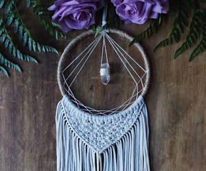 boho, crystals, and dreamcatcher image