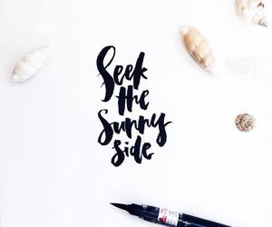 beach, quote, and calligraphy image