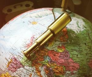 europe, globe, and telescope image