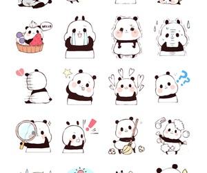 animal, panda, and art image