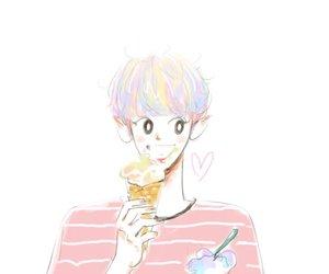 exo, fanart, and rainbow image