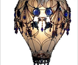 balloon, hot air balloon, and lamp image