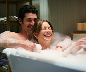 couple, grey, and smile image