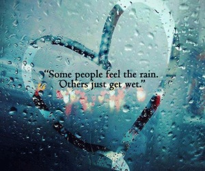 heart, love, and rain image
