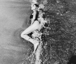 beach and black and white image
