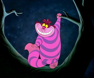 alice in wonderland, Cheshire cat, and disney image