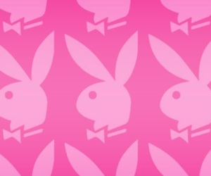 pink, bunny, and Playboy image