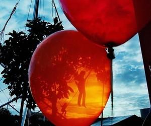 sky, swing, and balloon image