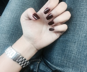 beauty, denim, and nails image