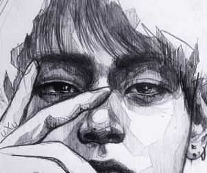 drawing, bts, and taehyung image