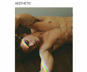 aesthetic, model, and rainbow image