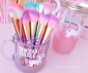 colorful, makeup, and unicorn image