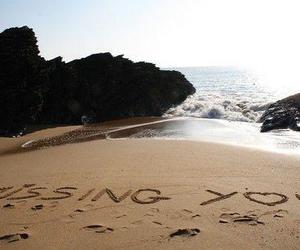 love, beach, and miss you image
