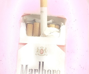 cigs, pink, and smoking image