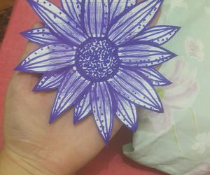 blue, sunflower, and draw image