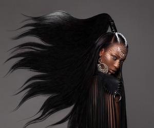 black woman, fashion, and tribal image