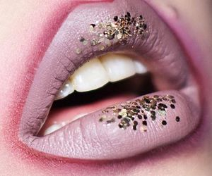 beauty, lips, and sparkle image