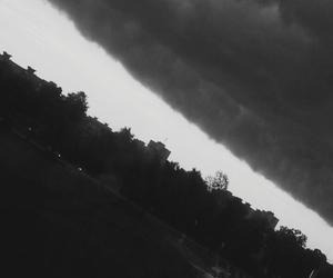 black&white, rain, and clouds image
