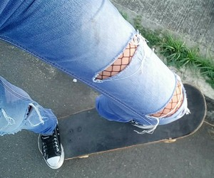 jeans, skate, and sol image