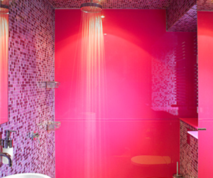 pink and bathroom image