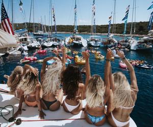 bikini, girls, and happiness image