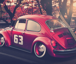 beetle, car, and red image