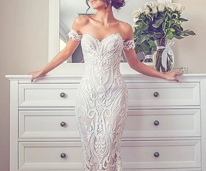 bridal, filigree, and lace image