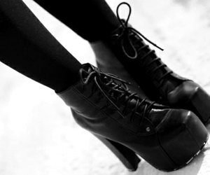 b&w, style, and boots image