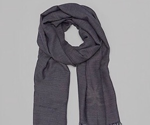 fashion, scarf, and grey image