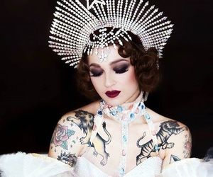 crown, pinup, and showgirl image
