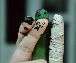 fingers, Halloween, and zombie image
