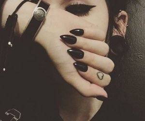 black, nails, and claws image